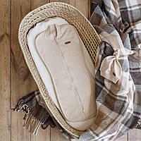 """Евро пеленка для новорожденного на молнии с шапочкой """"Merely"""",бежевый, для деток 0-3 мес."""