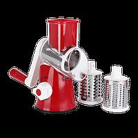 Ручная овощерезка-терка с насадками Kitchen Master 5140 Red