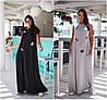 Р 48-58 Летнее длинное трикотажное свободное платье Батал 21892