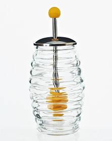 Банка для меда Bona Home Kitchen 250 мл с металлической крышкой и ложкой для меда BD-407-007psg, КОД: 170594