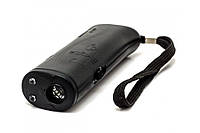 Миниатюрный ультразвуковой портативный отпугиватель собак с фонариком AD-100 Черный (ip34442)