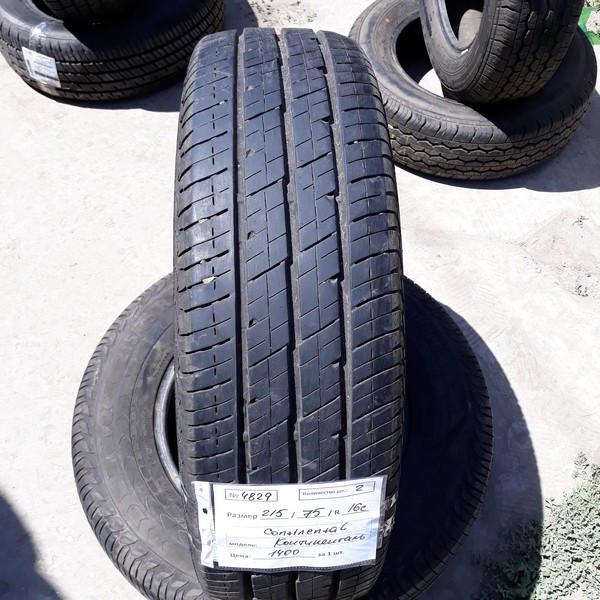 Почти Новые! Шины б.у. 215.75.r16с Continental Vanco 2 Континенталь. Резина бу для микроавтобусов. Автошина