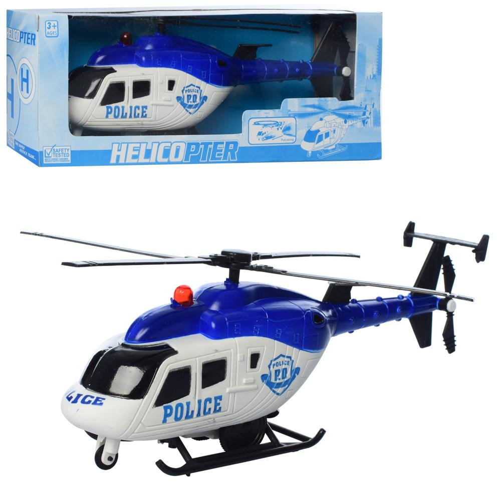 Вертолет GX003  25см, полиция, ездит, вращается