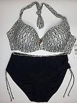 Купальник на большую грудь Sisianna 31827 черный на 56  размер, фото 2