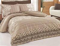 Комплект постельного белья Nazenin Dante Евро Сатин 200х220 см Бежевый psgSA-4322, КОД: 944268