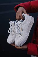 Кроссовки кеды женские Puma Cali White (пума кали белые)