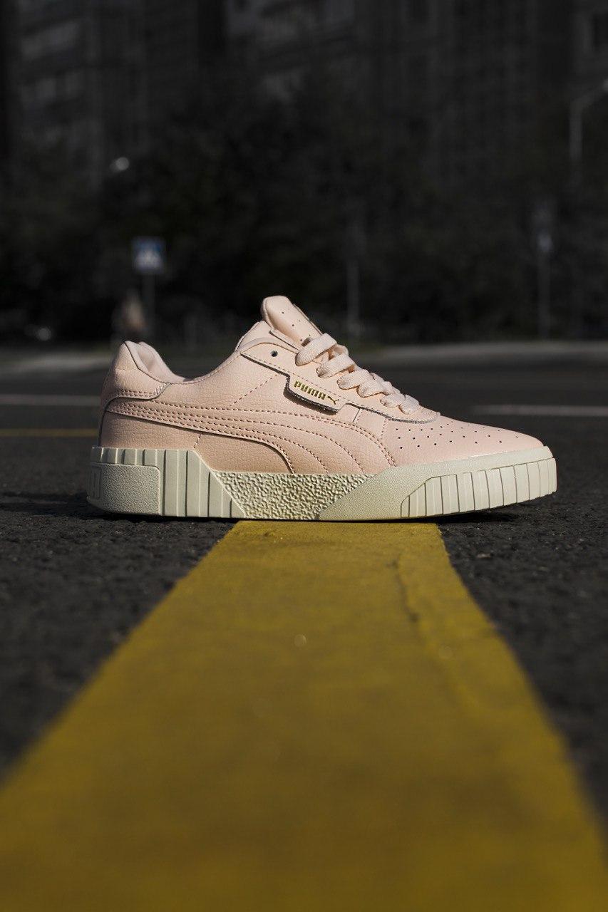 Кроссовки кеды женские Puma Cali Pink (пума кали розовые)