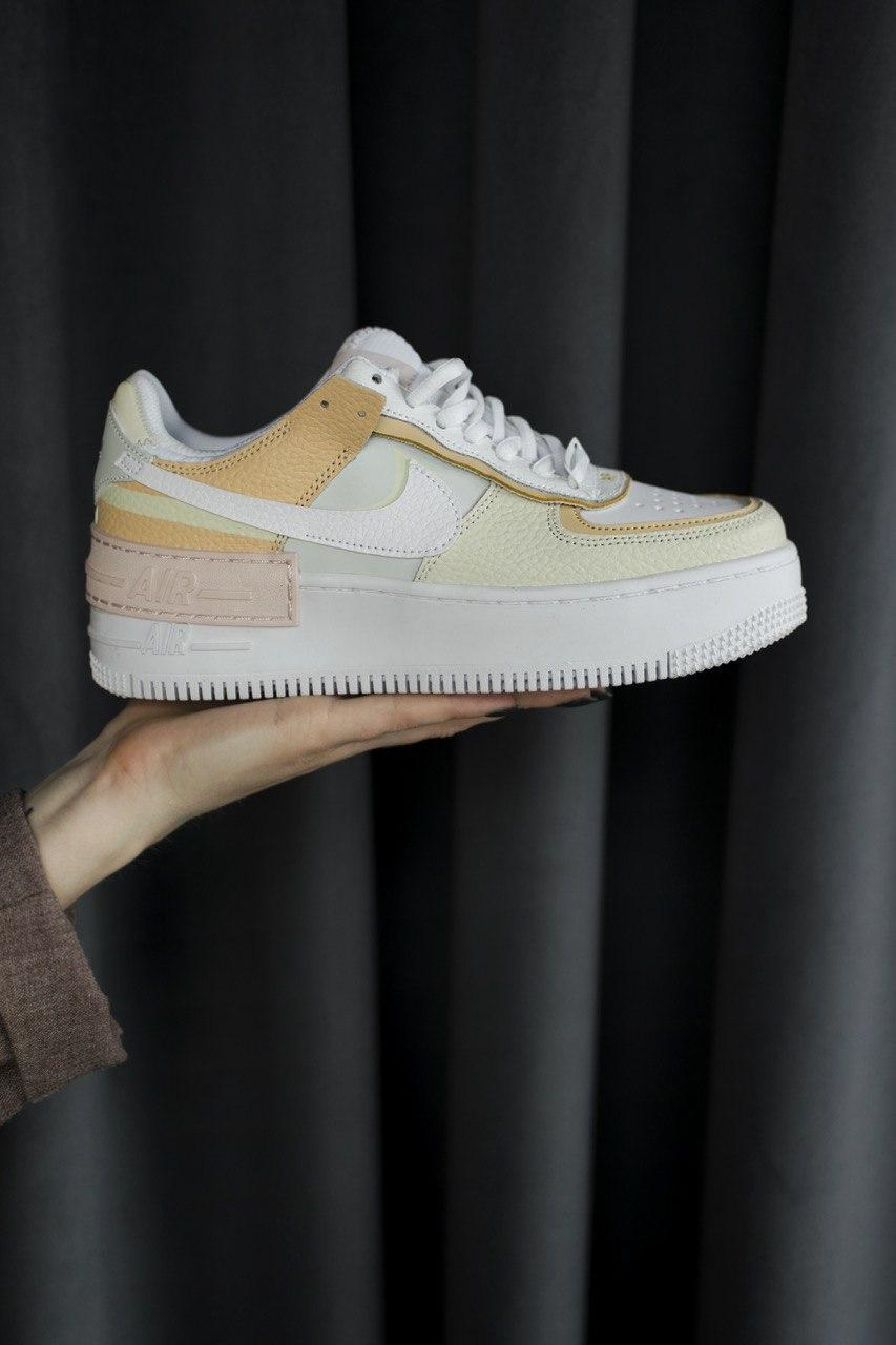 Кроссовки женские Nike Air Force Shadow Tonal Cream (найк аир форс шедоу тонал крем)