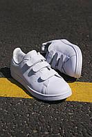 Кроссовки женские Adidas Stan Smith Velcro White (адидас стэн смит на липучке), фото 1