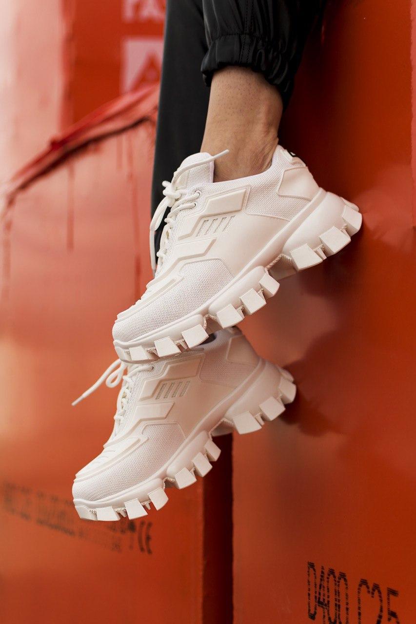 Кроссовки женские Prada Cloudbust Thunder White (прада клаудбуст тандер)