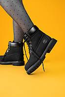 Ботинки женские Timberland Black (Термо) (Тимберленд черные)