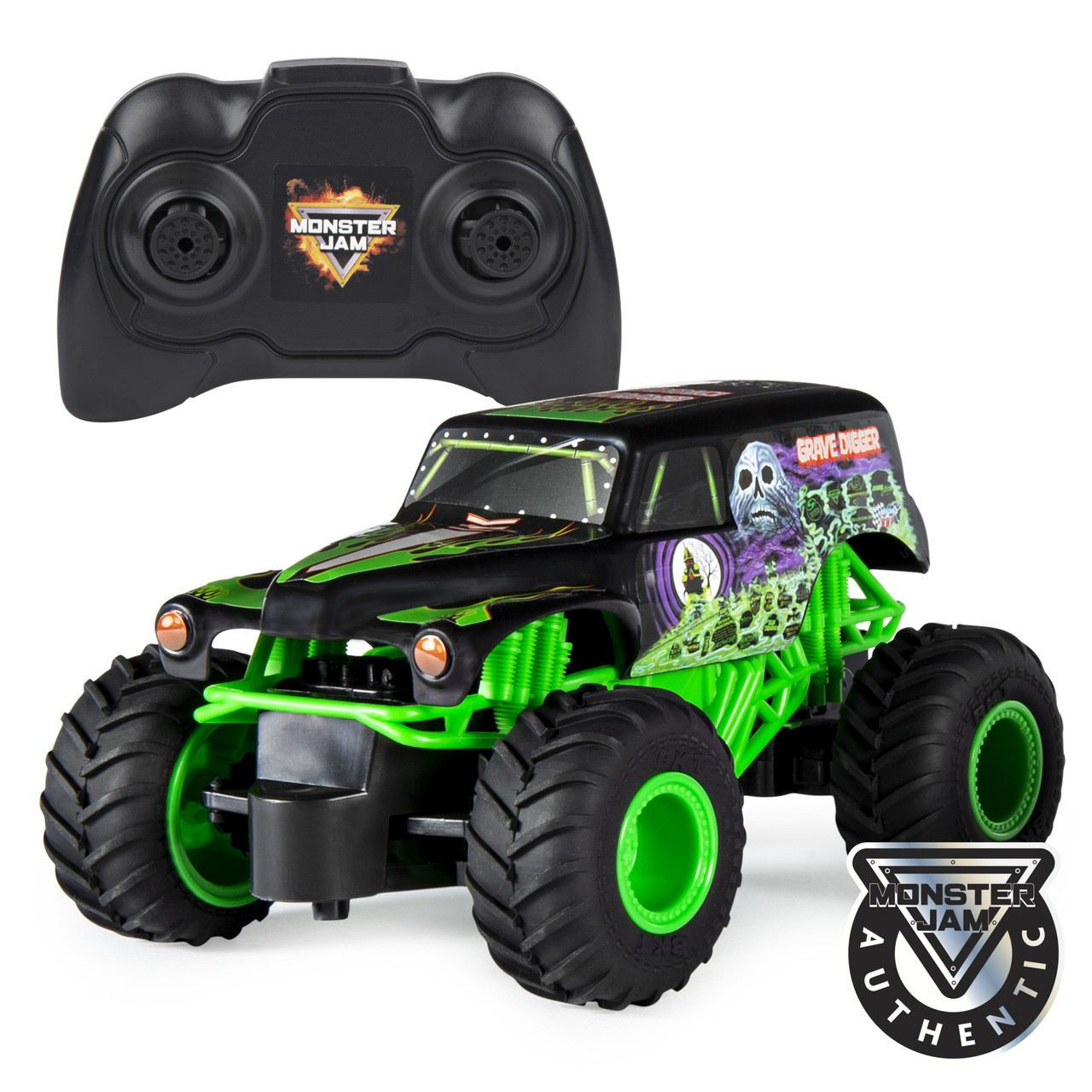 Hot Wheels Monster Jam Внедорожник джип на р/у 1:24 Scale Grave Digger Remote Control Trucks