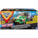Hot Wheels Monster Jam Внедорожник джип на р/у 1:24 Scale Grave Digger Remote Control Trucks, фото 4