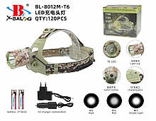 Налобний ліхтар, камуфляжний police на 2 акумулятора 18650 ART-7214-T6/8012 (120 шт/ящ)