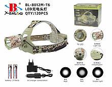 Налобный фонарь, камуфляжный police на 2 аккумулятора 18650 ART-7214-T6/8012 (120 шт/ящ)