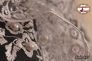 Свадебный палантин с жемчугом Каприз, фото 2