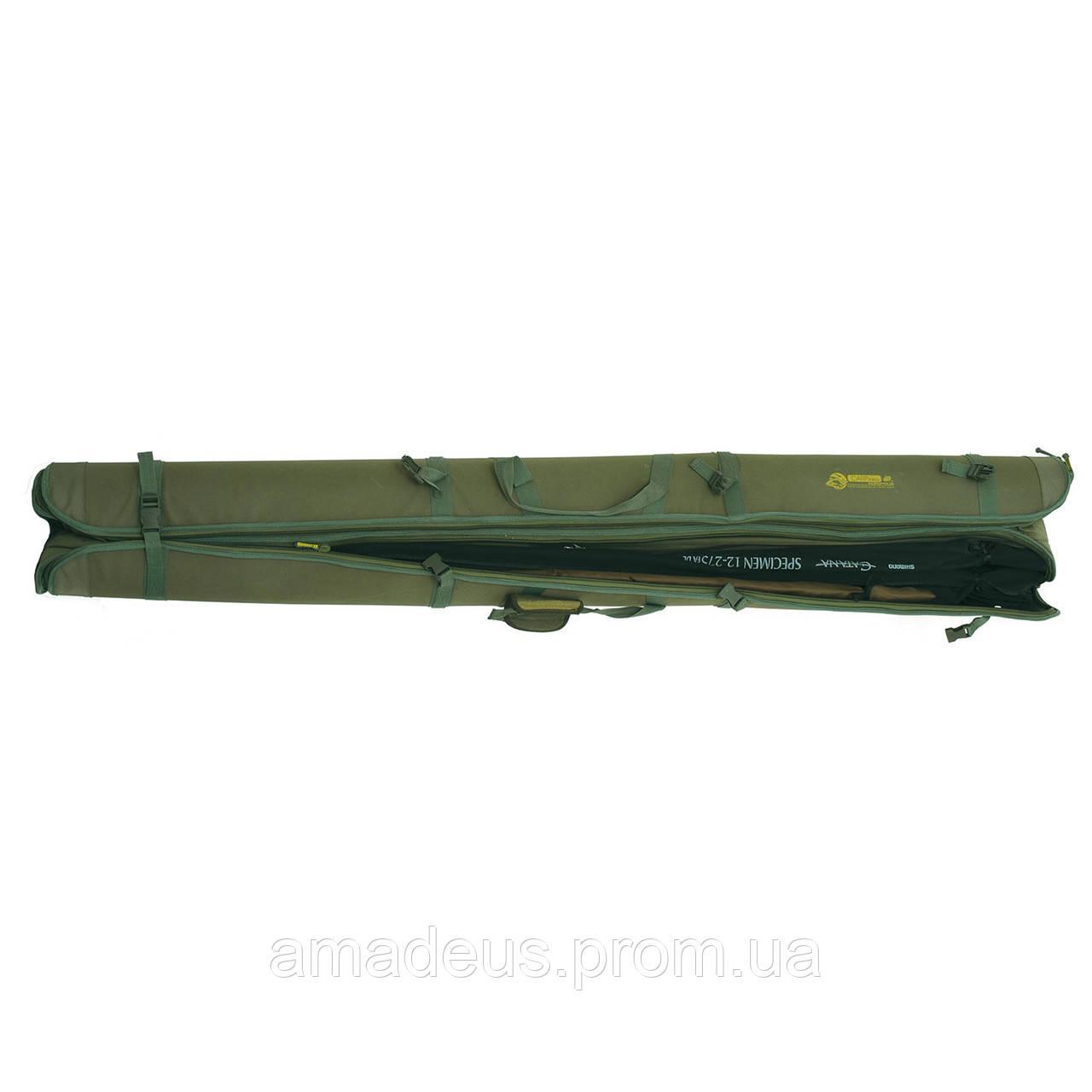 Чехол для спиннингов карповых жесткий (190 см.) КВ-12б