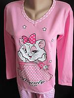 Теплые пижамы на байке для молодежи., фото 1