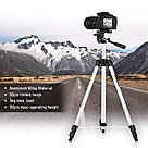 Штатив 330А для камеры трипод, штатив для телефона с телескопическими ножками, макс 3 кг (GS00-330A), фото 6