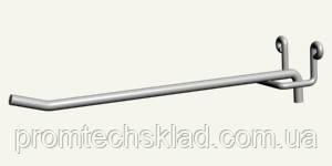 Гачок одинарний торговельний на ДСП, довжина - 100 мм