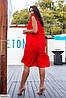 Платье женское большого размера с рюшами, фото 3