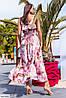 Летнее платье с цветочным принтом большого размера, фото 2