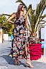 Летнее платье с цветочным принтом большого размера, фото 6
