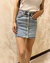 Стильная джинсовая юбка на пуговицах Размеры: 34,36,38,40,42