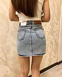 Стильная джинсовая юбка на пуговицах Размеры: 34,36,38,40,42, фото 2