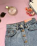 Стильная джинсовая юбка на пуговицах Размеры: 34,36,38,40,42, фото 4