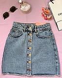 Стильная джинсовая юбка на пуговицах Размеры: 34,36,38,40,42, фото 6