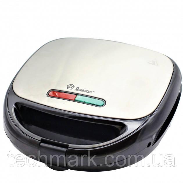 Сендвичница бутербродница Гриль вафельница орешница 4в1 1000 Вт со съемными формами Domotec MS-7704
