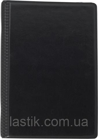 Визитница виниловая на 120 визиток, черная