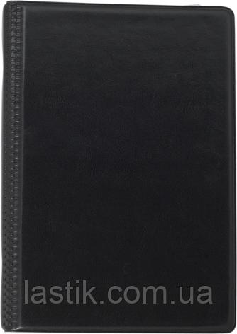 Визитница виниловая на 120 визиток, черная, фото 2