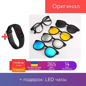 Очки солнцезащитные антибликовые Magic Vision 5 в 1 (0631)