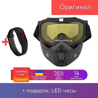 Маска-трансформер для лыжников и сноубордистов VJTech желтая