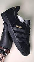 Мужские кроссовки Adidas Gazelle Black, мужские кроссовки адидас газели