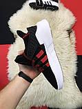 Мужские кроссовки Adidas Equipment EQT Black White Red, мужские кроссовки адидас эквипмент ект (42,44 размеры), фото 3