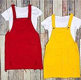Сарафан женский каттоновый с футболкой Цвет: чёрный, красный, хаки, мята, пудра, голубой, зелёный, желтый, фото 5