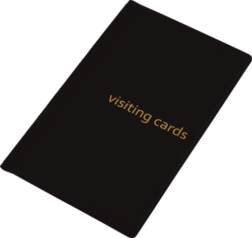 Визитница для 96 визиток, PVC, черная
