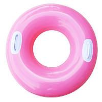 Надувной круг с ручками Intex 59258 Розовый int592583, КОД: 109628