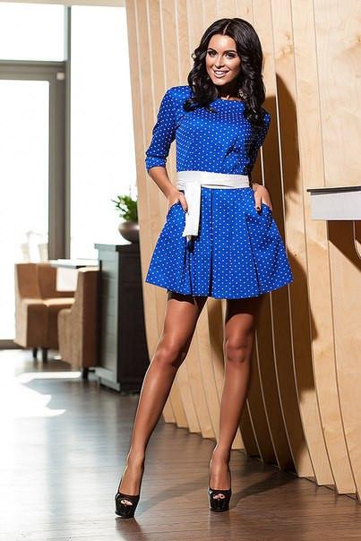 Платье в сердечки женское