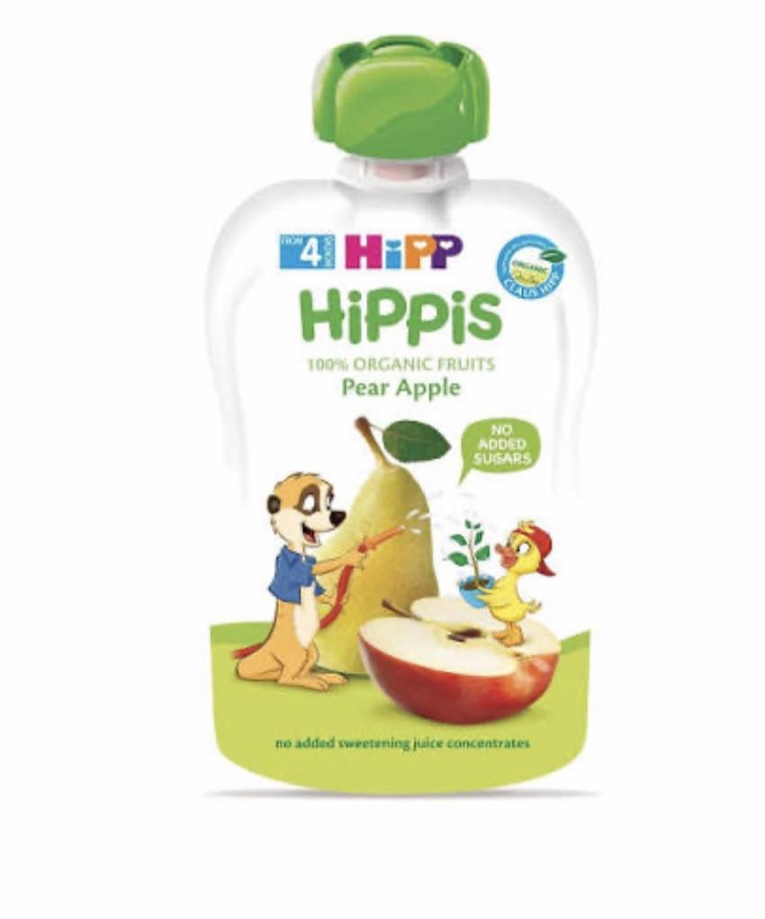 Пюре фруктовое органик груша-яблоко HiPP (Хипп) 100 гр с 4 месяцев