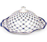 Лимонница BonaDi Кобальтовая сетка d 19 см Белый с синим psgBDXX125, КОД: 945395