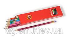 Карандаш графитовый HB с ластиком ASTRA Koh-i-Nоor