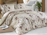 Комплект постельного белья Nazenin Karya Kahve Евро Сатин 200х220 см Бежевый psgSA-4324, КОД: 944286