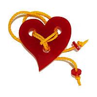 Акриловая головоломка Серденько Крутиголовка Красный krut0068, КОД: 120085