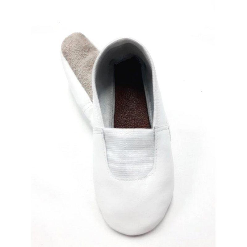 Шкіряні чешки для танців і гімнастики білі