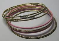 Браслет розово-золотой  №0236