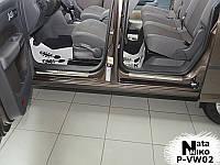 Защита порогов - накладки на пороги Volkswagen CADDY III с 2004 г. (Premium)